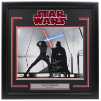 """Dave Prowse Signed """"Star Wars"""" 16x20 Custom Framed Photo Display Inscribed """"Darth Vader"""" (Beckett COA) at PristineAuction.com"""