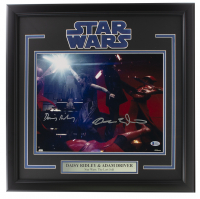 "Daisy Ridley & Adam Driver Signed ""Star Wars"" 16x20 Custom Framed Photo Display (Beckett COA) at PristineAuction.com"
