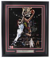 Trae Young Signed Hawks 20x24 Custom Framed Photo Display (Panini COA) at PristineAuction.com