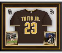 Fernando Tatis Jr. Signed 34x44 Custom Framed Jersey Display (Fanatics Hologram) at PristineAuction.com