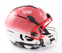 """Clyde Edwards-Helaire Signed Full-Size Youth Authentic On-Field Hydro-Dipped F7 Helmet Inscribed """"Glyde"""" (JSA COA) (See Description) at PristineAuction.com"""