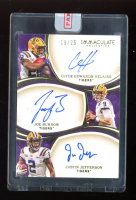 Justin Jefferson / Clyde Edwards-Helaire / Joe Burrow 2020 Immaculate Collection Collegiate Immaculate Trios Autographs #3 #19/25 at PristineAuction.com