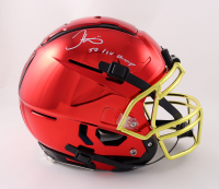 """Tyreek Hill Signed Full-Size Youth Authentic On-Field Chrome F7 Helmet Inscribed """"SB LIV Champs"""" (JSA COA) (See Description) at PristineAuction.com"""