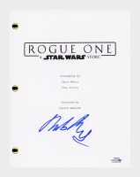 """Mads Mikkelsen Signed """"Rogue One: A Star Wars Story"""" Movie Script (AutographCOA COA) at PristineAuction.com"""