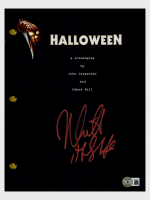 """Nick Castle Signed """"Halloween"""" Movie Script Inscribed """"The Shape"""" (Beckett Hologram) at PristineAuction.com"""