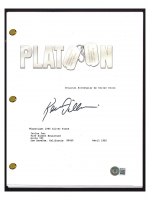 "Kevin Dillon Signed ""Platoon"" Movie Script (Beckett COA) at PristineAuction.com"