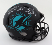 """Dan Marino Signed Dolphins Full-Size Authentic On-Field Eclipse Alternate Speed Helmet Inscribed """"Forever a Dolphin"""" & """"Last to wear 13""""(JSA COA) at PristineAuction.com"""