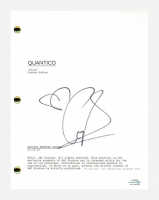 "Priyanka Chopra  Signed ""Quantico"" Pilot Episode Script (AutographCOA COA) at PristineAuction.com"