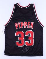 Scottie Pippen Signed Champion Reversible Bulls Jersey (JSA LOA) at PristineAuction.com