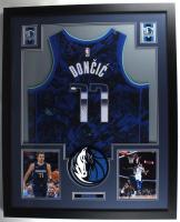 Luka Doncic Signed Mavericks 35.5x43.5 Custom Framed Jersey Display (JSA Hologram) (See Description) at PristineAuction.com