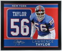 Lawrence Taylor Signed 35x43 Custom Framed Jersey (JSA Hologram) at PristineAuction.com