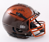 Nick Chubb Signed Full-Size Youth Authentic On-Field F7 Helmet (Beckett COA) at PristineAuction.com