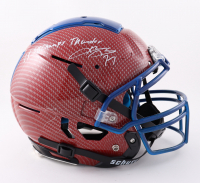 """Brandon Jacobs Signed Full-Size Authentic On-Field Hydro-Dipped F7 Helmet Inscribed """"2x SB Champs Thunder"""" (Beckett COA) at PristineAuction.com"""