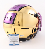 Justin Jefferson Signed Full-Size Youth Authentic On-Field Chrome F7 Helmet (Beckett COA) (See Description) at PristineAuction.com