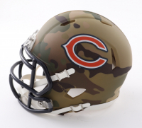 "Brian Urlacher Signed Bears Camo Alternate Speed Mini Helmet Inscribed ""HOF 18"" (Beckett COA) at PristineAuction.com"