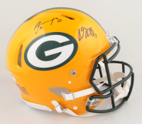Davante Adams & Aaron Rodgers Signed Packers Full-Size Authentic On-Field Speed Helmet (JSA COA) (See Description) at PristineAuction.com