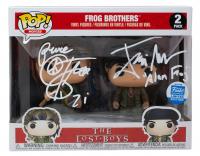 "Corey Feldman & Jamison Newlander Signed ""The Lost Boys"" The Frog Brothers Funko Pop! Vinyl Figure Inscribed ""Pure"" & ""Alan Frog"" (JSA Hologram) at PristineAuction.com"