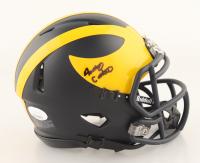 Anthony Carter Signed Michigan Wolverines Matte Black Speed Mini Helmet (JSA COA) at PristineAuction.com
