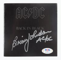 "Brian Johnson Signed AC/DC ""Back in Black"" CD Album Cover Inscribed ""AC/DC"" (PSA COA & Beckett COA) at PristineAuction.com"
