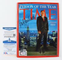Rudy Giuliani Signed 2001-2002 Time Magazine (Beckett COA & PSA COA) (See Description) at PristineAuction.com