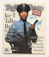 """Ice T Signed 1992 Rolling Stones Magazine Inscribed """"Peace?"""" & """"96"""" (Beckett COA) (See Description) at PristineAuction.com"""