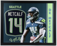 DK Metcalf Signed 35x43 Custom Framed Jersey (Beckett COA) at PristineAuction.com