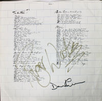 """Roger Waters & David Gilmour Signed Pink Floyd """"The Wall"""" Vinyl Record Album (Beckett LOA) at PristineAuction.com"""