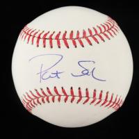 Pat Sajak Signed OML Baseball (Beckett COA) at PristineAuction.com