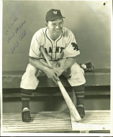 """Mel Ott Signed Giants 8x10 Photo Inscribed """"Best Wishes"""" (PSA LOA) at PristineAuction.com"""