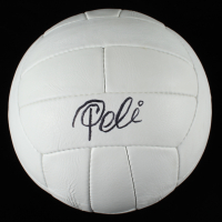 Pele Signed Vintage Soccer Ball (Beckett COA) at PristineAuction.com