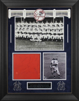 1956 Yankees 27x33.5 Custom Framed Cut Display Team-Signed by (12) with Elston Howard, Yogi Berra, Mickey Mantle (PSA LOA) at PristineAuction.com