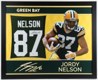 Jordy Nelson Signed 35x43 Custom Framed Jersey (Beckett COA) at PristineAuction.com