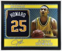 Juwan Howard Signed 35x43 Custom Framed Jersey (Beckett COA) at PristineAuction.com