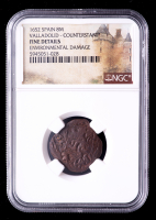 1652 Spain Valladolid Counterstamped Coin (NGC Fine Details) at PristineAuction.com