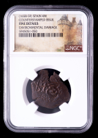 1658-59 Spain Counterstamped Issue Coin (NGC Fine Details) at PristineAuction.com