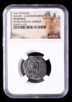 1641 Spain Madrid Counterstamped Coin (NGC VF Details) at PristineAuction.com