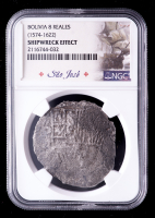 Sao Jose Shipwreck (1574-1622) Mexico Silver 8 Reales Coin (NGC Certified) at PristineAuction.com