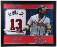 Ronald Acuna Jr. Signed 35x43 Custom Framed Jersey (JSA Hologram) at PristineAuction.com