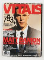 Matt Damon Signed 2004 Vitals Magazine (Beckett COA) at PristineAuction.com