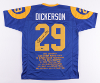 """Eric Dickerson Signed Career Highlight Stat Jersey Inscribed """"HOF 99"""" (Beckett Hologram) at PristineAuction.com"""