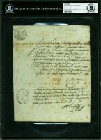 Xavier Bichat Signed Manuscript (BGS Encapsulated) at PristineAuction.com
