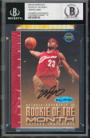 LeBron James Signed 2003-04 Upper Deck Rookie of the Month #18/23  (BGS Encapsulated) at PristineAuction.com