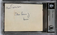 """John F. Kennedy Signed 2.5x3.5 Cut Inscribed """"Best Wishes"""" (BGS Encapsulated) at PristineAuction.com"""