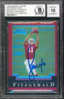 Larry Fitzgerald Signed 2004 Bowman Chrome Red Refractors #118 #134/210 (BGS Encapsulated) at PristineAuction.com