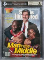 Michael Jordan, Scottie Pippen & Phil Jackson Signed 1991 Sports Illustrated Magazine (BGS Encapsulated) at PristineAuction.com