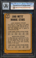 Nolan Ryan Signed 1968 Topps #177 Rookie Stars / Jerry Koosman RC / Nolan Ryan RC with Career Stat Inscriptions (BGS Encapsulated) at PristineAuction.com