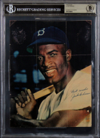 """Jackie Robinson Twice-Signed Dodgers 8x10 Photo Inscribed """"Best Wishes"""" (BGS Encapsulated) at PristineAuction.com"""