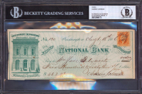 Andrew Johnson Signed 1866 Personal Bank Check (BGS Encapsulated) at PristineAuction.com
