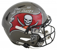 """Devin White Signed Buccaneers Full-Size Authentic On-Field SpeedFlex Helmet Inscribed """"SB LV Champs"""" (Beckett COA) at PristineAuction.com"""