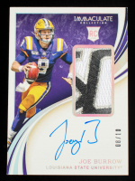 Joe Burrow 2020 Immaculate Collection Collegiate Rookie Patch Autographs 150th Anniversary Logo #102 #8/10 at PristineAuction.com